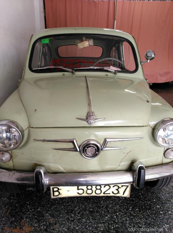 Coches: SEAT 600 B-5... UBICADO EN TERRASSA COLOR VERDE OLIVA MOTOR REPASADO - Foto 9 - 26898010