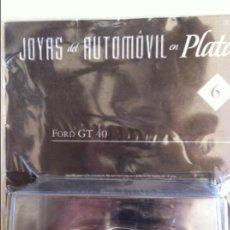 Coches: JOYAS DEL AUTOMOVIL EN PLATA 6 FORD GT 40 ALTAYA. Lote 82481632