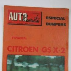 Coches: PUBLICACIÓN / REVISTA COCHES - AUTO REVISTA - FECHA ABRIL 1978, Nº 1084 - CITROEN GS X-2, DUMPERS. Lote 107908530