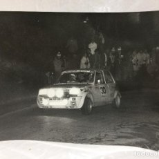 Coches: FOTO CRITERIUM GUILLERIES 1980 RENAULT 5 ALPINE FOLGADO PINEDO. Lote 112715535