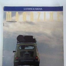 Coches: SEAT 40 AÑOS DE CATALUÑA/MAGAZINE LA VANGUARDIA/CON POSTER.. Lote 142174766