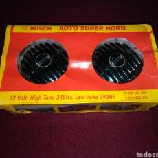 Coches: SUPER CLAXÓN BOSCH DE 12V - PAR DE 290HZ (BAJO) Y 345HZ (ALTO).. Lote 142616202