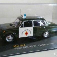 Coches: SEAT 124 D - AGRUPACIÓN DE TRÁFICO - GUARDIA CIVIL (1977). Lote 143314362