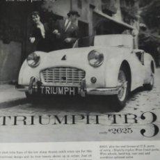 Coches: PUBLICIDAD DEL TRIUMPH TR3.. Lote 147660342