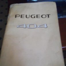 Coches: MANUAL MANTENIMIENTO COCHE PEUGEOT 404 . Lote 165746506