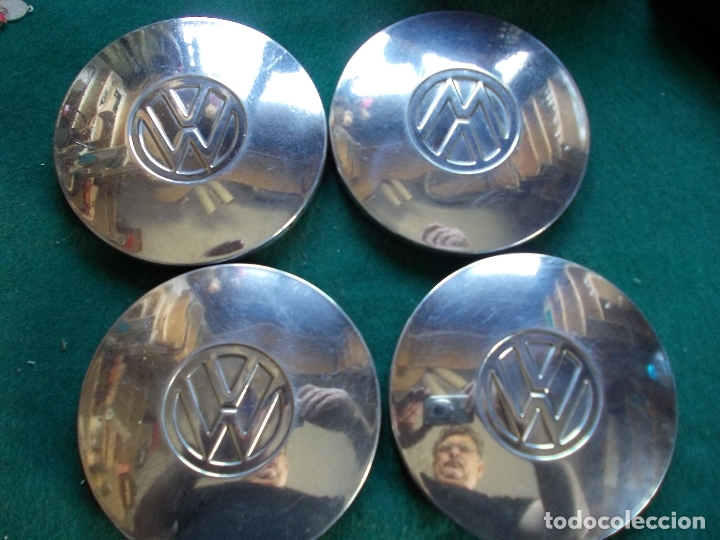 Coches: LOTE 4 TAPACUBOS VOLKSWAGEN 14 CM - Foto 1 - 167687924
