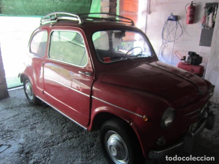 Coches: SEAT 600 CLASICO DEL 1961 DE LOS PRIMEROS SE ACEPTAN OFERTAS RAZONABLES MEJOR VER - Foto 3 - 175536888