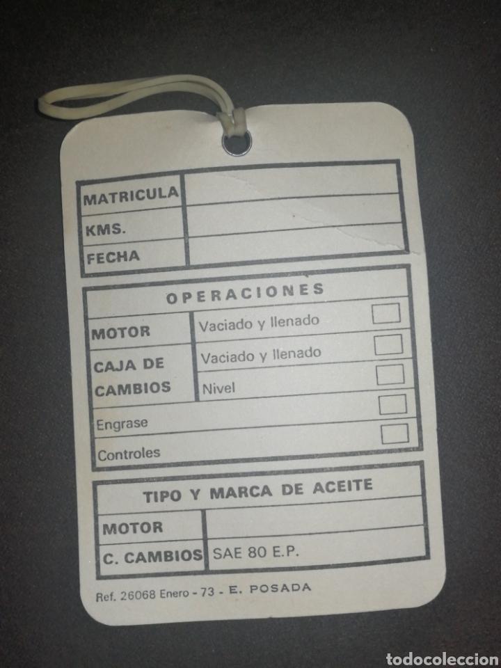 Coches: RENAULT, ANTIGUA TARJETA CONTROL DE ACEITE - Foto 2 - 195154927