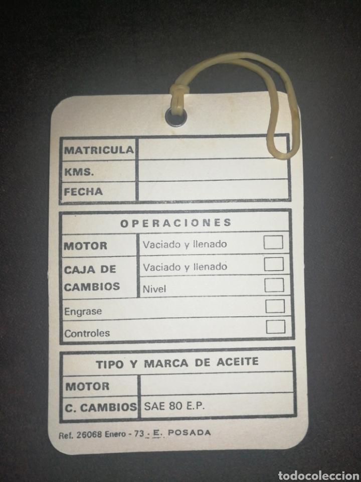 Coches: RENAULT, ANTIGUA TARJETA CONTROL DE ACEITE - Foto 2 - 195154937