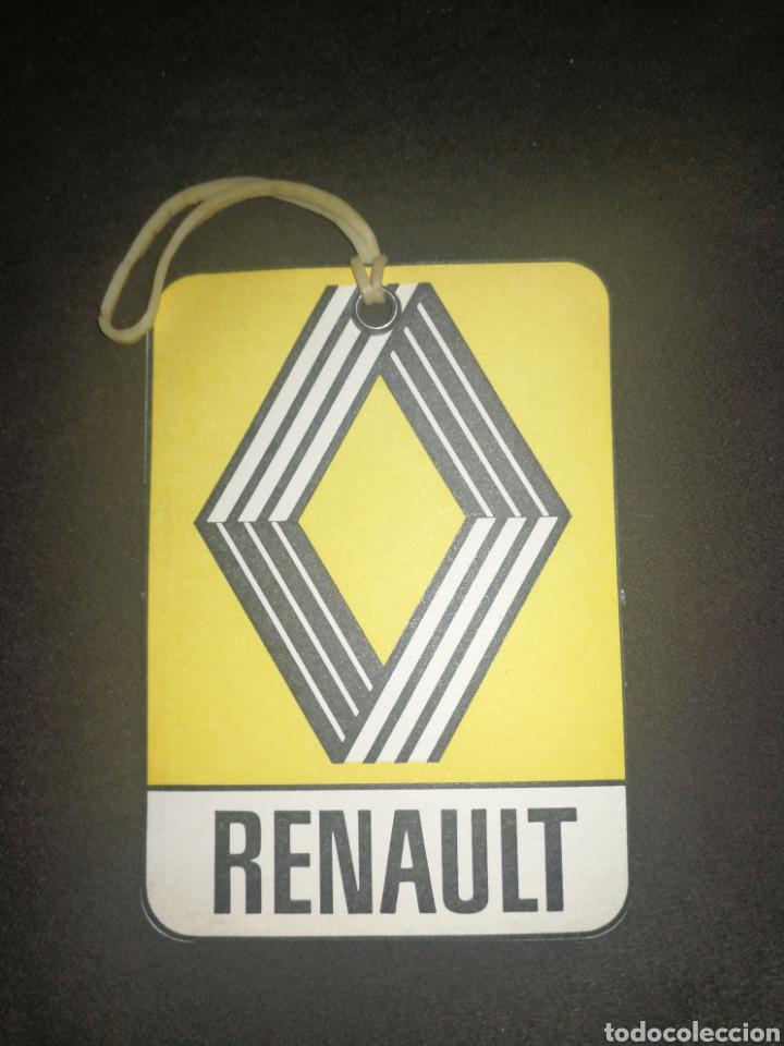 RENAULT, ANTIGUA TARJETA CONTROL DE ACEITE (Coches y Motocicletas - Coches Clásicos (a partir de 1.940))
