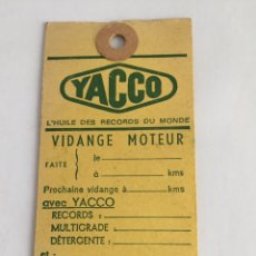 Coches: ANTIGUA ETIQUETA CAMBIO DE ACEITE CASTROL. Lote 210568063