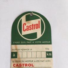 Coches: CAMBIO DE ETIQUETA DE ACEITE CASTROL. Lote 210568303