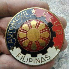 Coches: CHAPA INSIGNIA VESPA O AUTOMOVIL CLÁSICO VINTAGE CLUB FILIPINAS. Lote 210762456