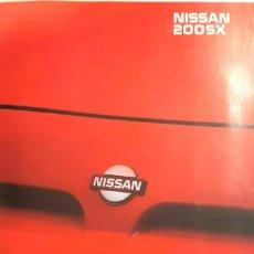 Carros: NISSAN 200 SX - CATÁLOGO PUBLICIDAD ORIGINAL - ABRIL 1989 - ESPAÑOL. Lote 234049860