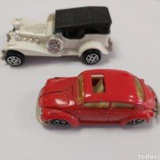 Carros: VOKSWAGEN ESCARABAJO MAJORETTE N 202 Y EXCALIBUR N 267. Lote 242814800