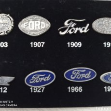 Carros: HISTORIA DEL OVALO FORD, OCHO PINS, 1903-1995.EN ESTUCHE DE MADERA 14 X10 CMS .. Lote 254145280