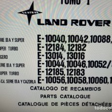 Coches: DVD MANUAL DE RECAMBIOS LAND ROVER AÑO 83. Lote 255003925