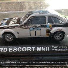 Carros: COCHE RÉPLICA MINIATURA FORD ESCORT MKII. RAC RALLY 1975.T.MAKINEN-H.LIDDON. ESCALA 1/43. Lote 265116674