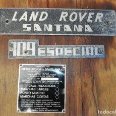 Carros: PLACAS LAND ROVER SANTANA 109 ESPECIAL. Lote 280309473
