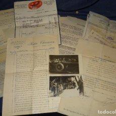 Coches: HISPANO SUIZA - LOTE DE DOCUMENTACIÓN, FOTOGRAFIAS, FACTURAS DE LA COMPRA COCHE HISPANO SUIZA 1942. Lote 280648308