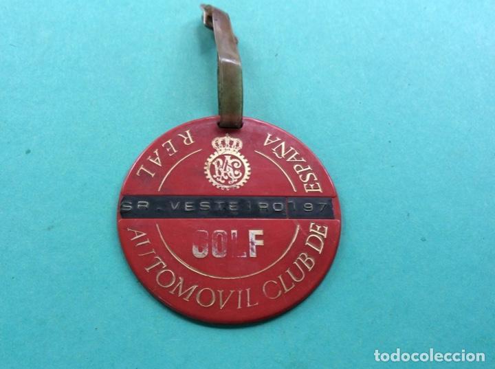 GOLF. REAL AUTOMÓVIL CLUB. PLACA IDENTIFICADORA (Coches y Motocicletas - Coches Clásicos (a partir de 1.940))