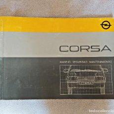 Coches: MANUAL DE USUARIO Y ENTRETENIMIENTO DEL OPEL CORSA. EDICIÓN AGOSTO 1985. EN ESPAÑOL.. Lote 291317213