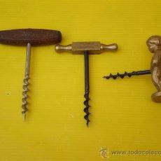 Abrebotellas y sacacorchos de colección: 3 BARBIQUI ANTIGUO. Lote 8547796