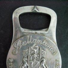 Abrebotellas y sacacorchos de colección: ANTIGUO ABREBOTELLAS CHRISTOFLE FRANCIA AÑOS 20 LINEA GALLIA SELLO COLL-GALLIA WHISKY BALLANTINES. Lote 27460046