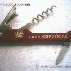 Abrebotellas y sacacorchos de colección: COMPLETO SACACORCHOS CARIÑENA. Lote 27440989