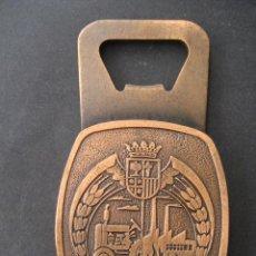 Abrebotellas y sacacorchos de colección: ABREBOTELLAS CON PUBLICIDAD. MUTUA DE SEGUROS DE ARAGON 1981. METAL MACIZO. Lote 31138992