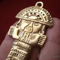 Abrebotellas y sacacorchos de colección: FABULOSO ABREBOTELLAS EN BRONCE CON REPRESENTACIÓN TUMI DE LA CULTURA INCA. Lote 57111952