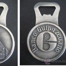 Abrebotellas y sacacorchos de colección: ABREBOTELLAS MACIZO. BANCO GUIPUZCOANO. Lote 38397930