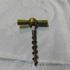 Abrebotellas y sacacorchos de colección: SACARCORCHOS MANECILLA GRIFO - LATÓN Y HIERRO. Lote 39903555