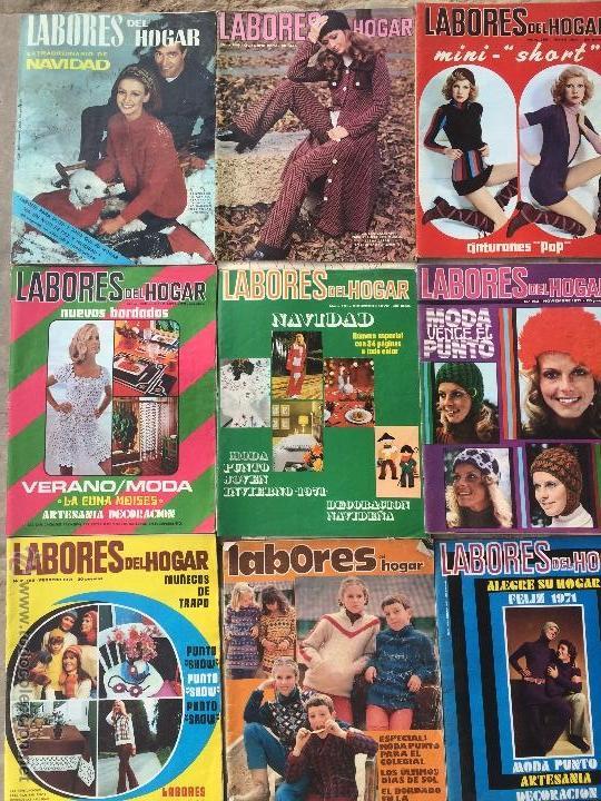 Abrebotellas y sacacorchos de colección: Antiguas 18 revista / revistas Labores del hogar años 70 con fotos para fabricar ropa y costura. - Foto 2 - 51798272