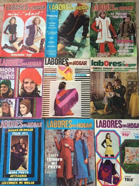 Abrebotellas y sacacorchos de colección: Antiguas 18 revista / revistas Labores del hogar años 70 con fotos para fabricar ropa y costura. - Foto 3 - 51798272