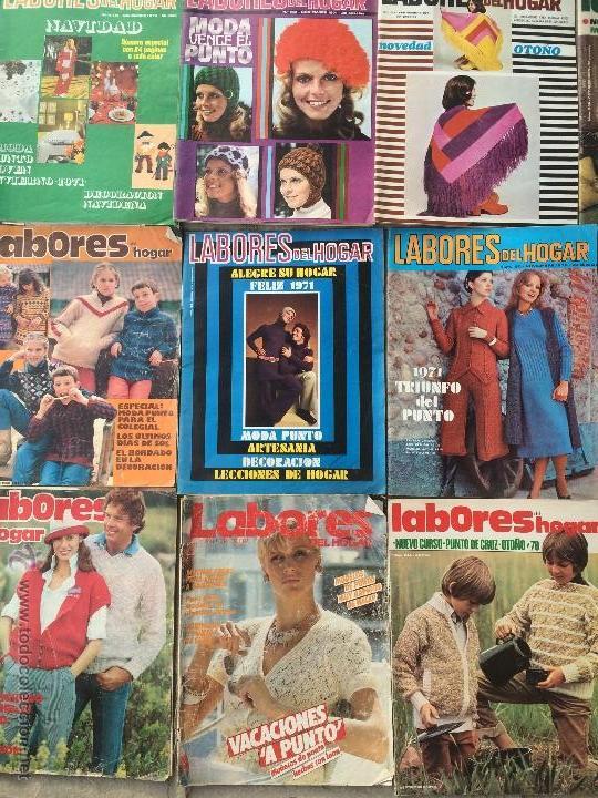 Abrebotellas y sacacorchos de colección: Antiguas 18 revista / revistas Labores del hogar años 70 con fotos para fabricar ropa y costura. - Foto 4 - 51798272