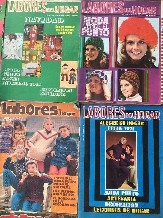 Abrebotellas y sacacorchos de colección: Antiguas 18 revista / revistas Labores del hogar años 70 con fotos para fabricar ropa y costura. - Foto 5 - 51798272