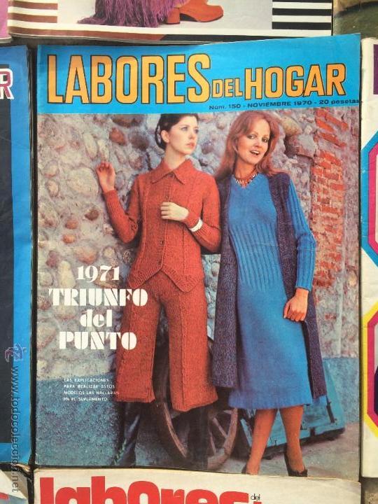 Abrebotellas y sacacorchos de colección: Antiguas 18 revista / revistas Labores del hogar años 70 con fotos para fabricar ropa y costura. - Foto 6 - 51798272