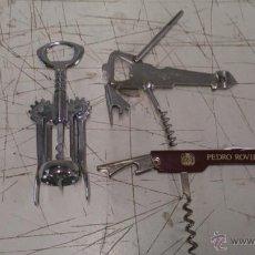 Abrebotellas y sacacorchos de colección: LOTE DE 3 SACACORCHOS. Lote 52169518