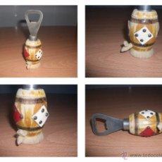 Abrebotellas y sacacorchos de colección: CURIOSO ABREBOTELLAS EN MADERA. Lote 53052664