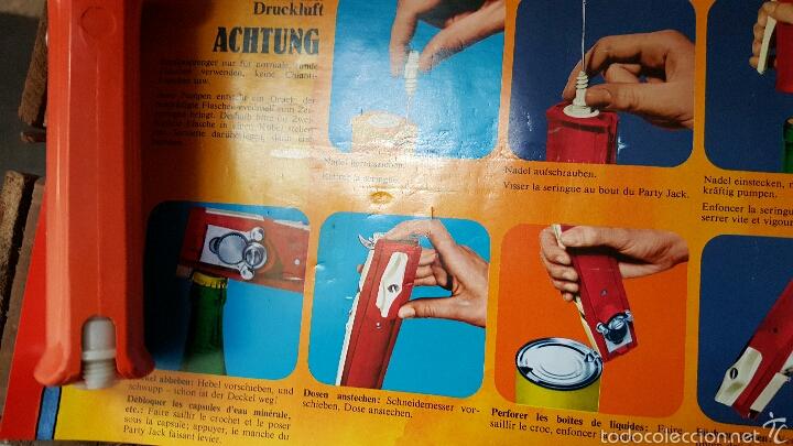 Abrebotellas y sacacorchos de colección: PARTY JACK, RARO DESTAPADOR Y ABRIDOR MULTIUSOS, 1970s, NUEVO Y EN SU CAJA! VINTAGE, RARO! - Foto 4 - 80526874