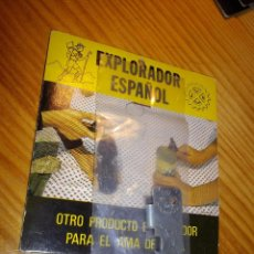 Abrebotellas y sacacorchos de colección: GENIAL ABRELATAS EL EXPLORADOR ESPAÑOL ABREBOTELLAS METAL BLISTER ORIGINAL GIJON VINTAGE. Lote 54285120