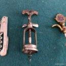 Abrebotellas y sacacorchos de colección: TRES ANTIGUOS SACACORCHOS,VER DETALLE. Lote 56872999