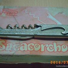 Abrebotellas y sacacorchos de colección: CAJA CON OCHO UNIDADES.-- ANTIGUO SACACORCHOS CASA PAYA-PUBLICIDAD CANALS NUBIOLA-EXTRISSIMO BACH -. Lote 58160645