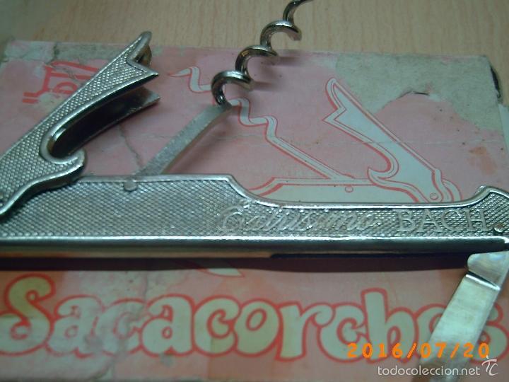Abrebotellas y sacacorchos de colección: ANTIGUO SACACORCHOS CASA PAYA-PUBLICIDAD CANALS NUBIOLA-EXTRISSIMO BACH-SIN CAJA- - Foto 4 - 110180830
