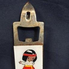 Abrebotellas y sacacorchos de colección: ABREBOTELLAS ABRELATAS MEXICO MEJICO AÑOS 60 CHIHUAHUA METAL PLASTICO 10,5X3,8CMS. Lote 62909020