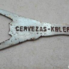 Abrebotellas y sacacorchos de colección: ANTIGUO ABRIDOR CERVEZAS KELER. Lote 80741967
