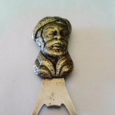 Abrebotellas y sacacorchos de colección: ABREBOTELLAS LATÓN BAÑO PLATA.. Lote 87649308