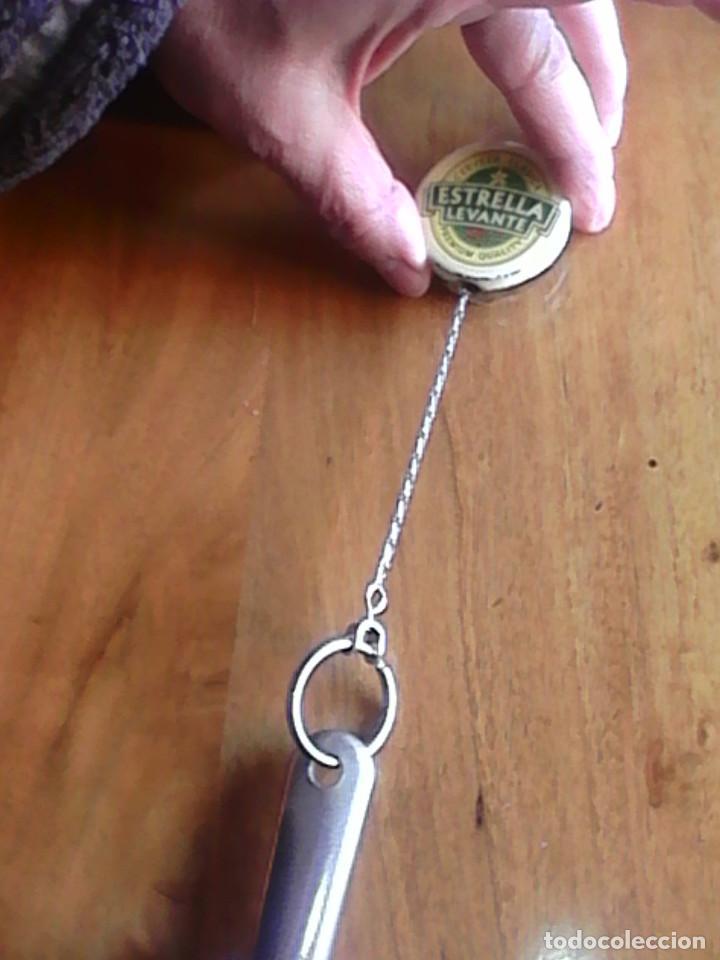 Abrebotellas y sacacorchos de colección: antiguo abrebotellas cerveza estrella levante - Foto 3 - 99248879