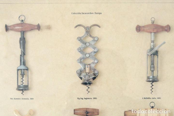 Abrebotellas y sacacorchos de colección: CARTEL PUBLICITARIO COLECCIÓN ANTIGUOS SACACORCHOS EUROPA BODEGAS RAIMAT - Foto 2 - 108180739